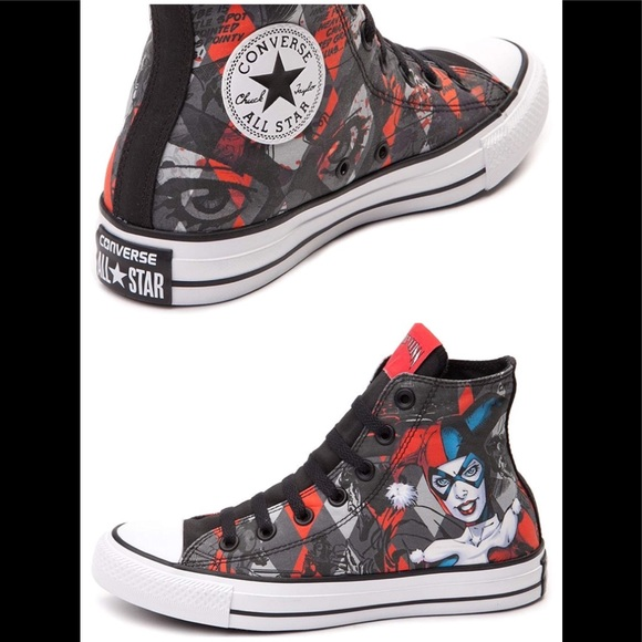 012415998485f8 Converse Shoes - Converse Harley Quinn Chuck Taylor All Star Hi